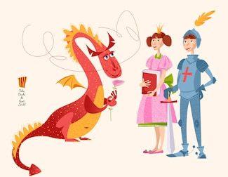 princess-book-knight-sword-dragon-260nw-1032638977